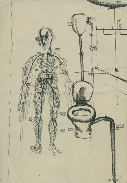 Van Fiut, Hegar, Układ nerwowy przy toalecie