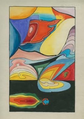 Kompozycja (kolorowa), lata 60. XX wieku