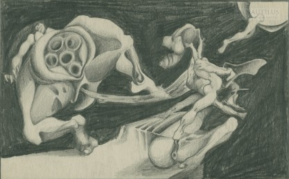 Van Fiut, Hegar, Kompozycja z postaciami