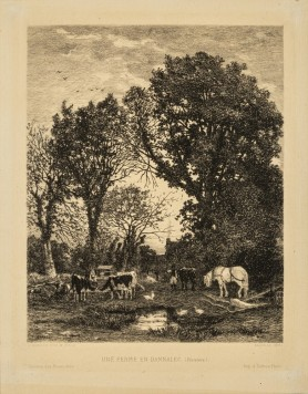 Une Ferme en Bannalec (Finistere), 1876