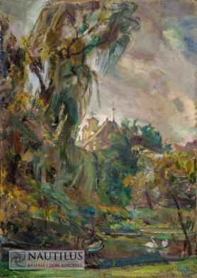 W parku [Impresja z krakowskich Plant], 1952