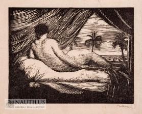 Akt z palmami - Wenus, 1925