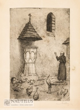 Kazanie św. Franciszka, połowa lat 30. XX wieku