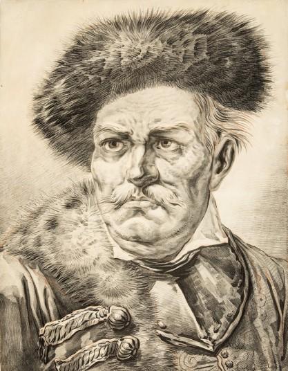 Aleksander Orłowski, Portret szlachcica w kołpaku i z ryngrafe