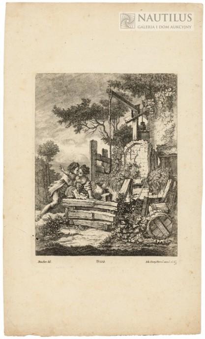 Johann Georg I HERTEL, Johann Georg Hertel II, Zakochani wieśniacy. Scena miłosna przy starej studni