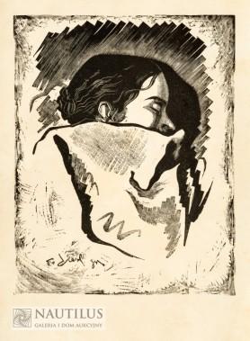Śpiąca (żona artysty), 1935