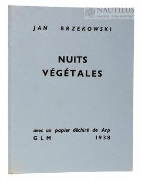 Nuits Vegetales. Avec un papier déchiré de [Hans] Arp, 1938