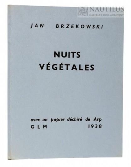 Jean Arp, Nuits Vegetales. Avec un papier déchiré de [Hans] Arp