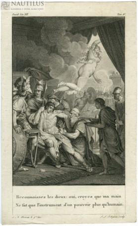 Eneasz raniony w nogę. Wenus wraca na Olimp, 1804
