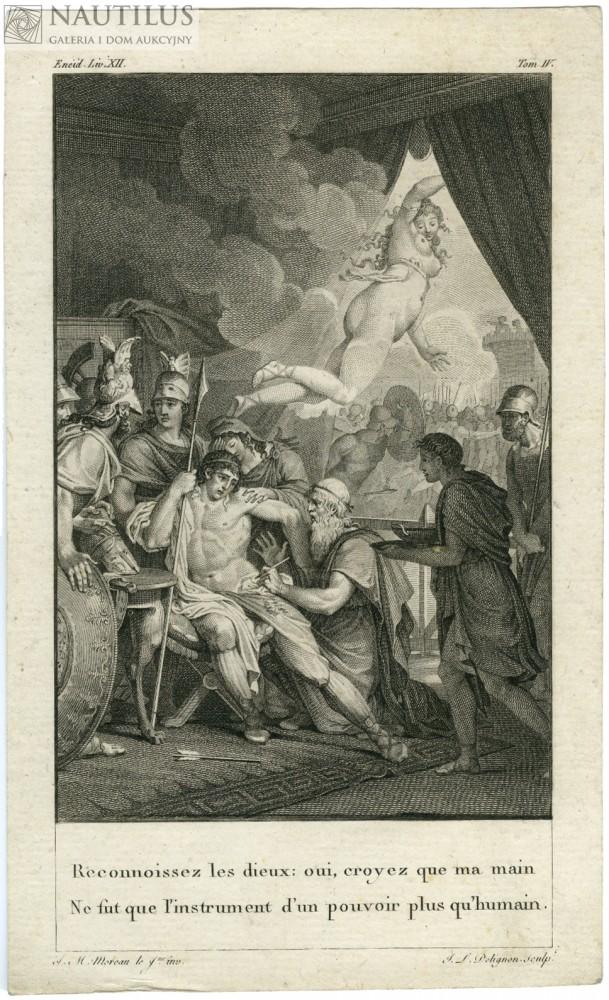 Eneasz raniony w nogę. Wenus wraca na Olimp