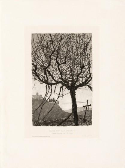 Ernst Moritz Geyger, Blick auf San Miniato [Widok San Miniato]