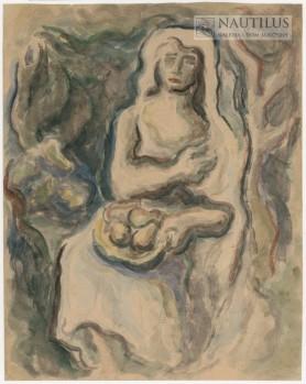 Kobieta z owocami, 1942