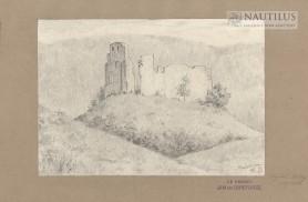 Ruiny zamku w Bochotnicy, 1911