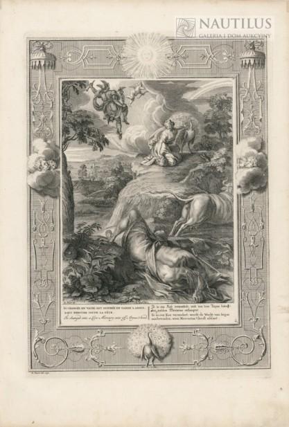 Bernard Picart, Io zmieniona w krowę, Merkury ucina głowę Argusowi
