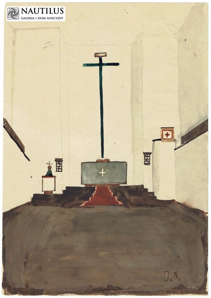 Pejzaż przemysłowy / prezbiterium kościoła