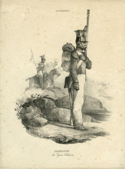 Nicolas-Toussaint Charlet, Grenadier Legionów Polskich