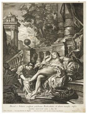 Dawid podglądający Batszebę w trakcie kąpieli, 2. połowa XVIII wieku