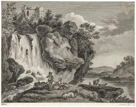 Sielanka pod wodospadem, ok. 1780 - 1790