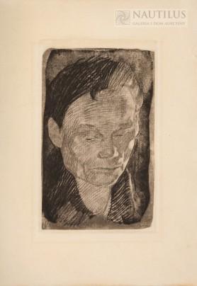 Autoportret, Płyta ok. 1905, odbitka późniejsza