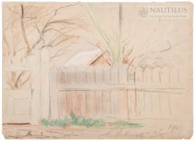 Wiejskie podwórze, 1903