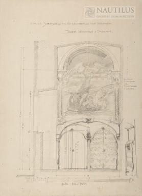 Projekt wystroju kaplicy Jana III Sobieskiego na Kahlenbergu, ok. 1910