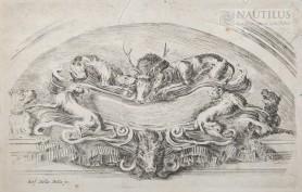 Kartusz z motywami myśliwskimi, XVIII wiek