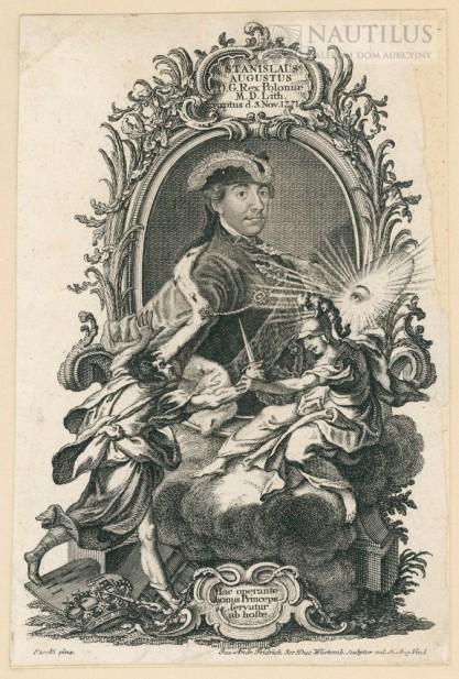Jacobs Andreas Friedrich, Portret Stanisława Augusta Poniatowskiego z symboliczną sceną porwania przez konfederatów ba...