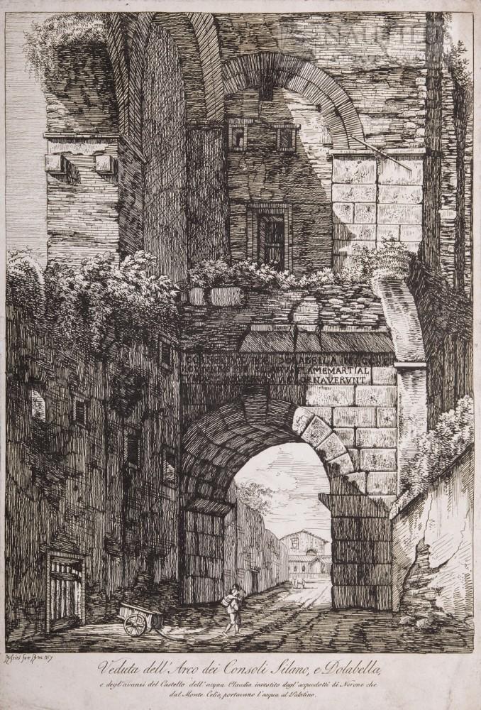 Veduta dell'Arco dei Consoli Silano e Dolabella