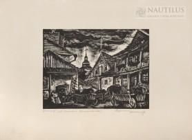 Krzemieniec. Ulica Miodowa, 1935