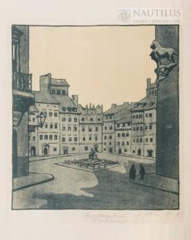 Warszawa. Rynek Starego Miasta, 1917