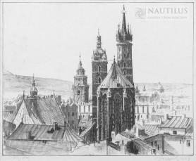 Kościół Mariacki w Krakowie od strony absydy, 1924