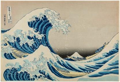 Hokusai , Wielka fala w Kanagawie