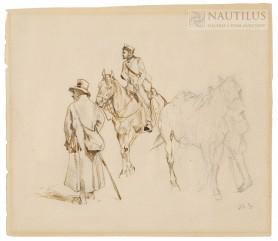 Patrol powstańczy (szkic do obrazu), ok. 1872