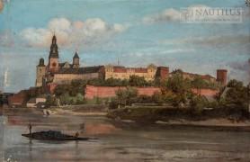 Kraków. Wawel od strony Wisły, 1890