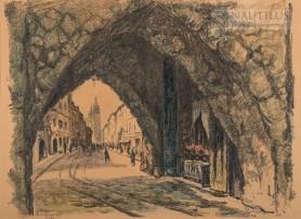 Kraków. Brama Floriańska, 1908