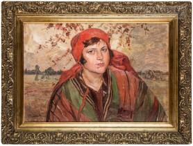 Piękna Zośka [Portret dziewczyny w stroju ludowym], lata 20. XX wieku