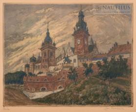 Kraków. Widok na Wawel, ok. 1913