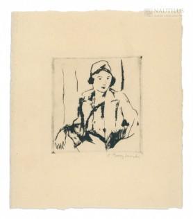 Portret paryżanki, lata 30. XX w.