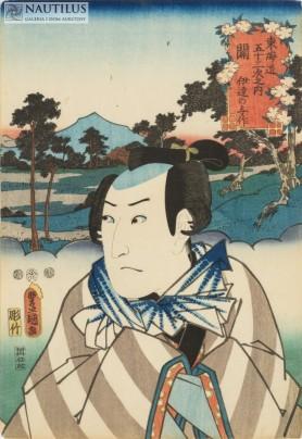 Sawamura Sojuro jako Date no Yosaku, 1852