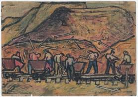 Budowa Nowej Huty pod Krakowem. Zestaw 5 rysunków, ok. 1950