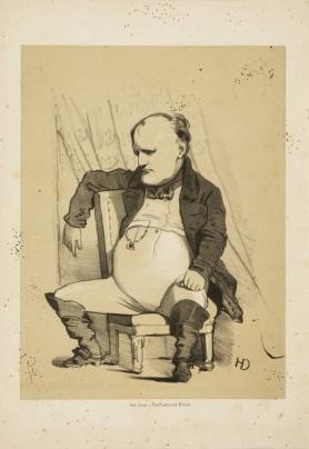 Napoleon Bonaparte. Karykatura, przed 1871