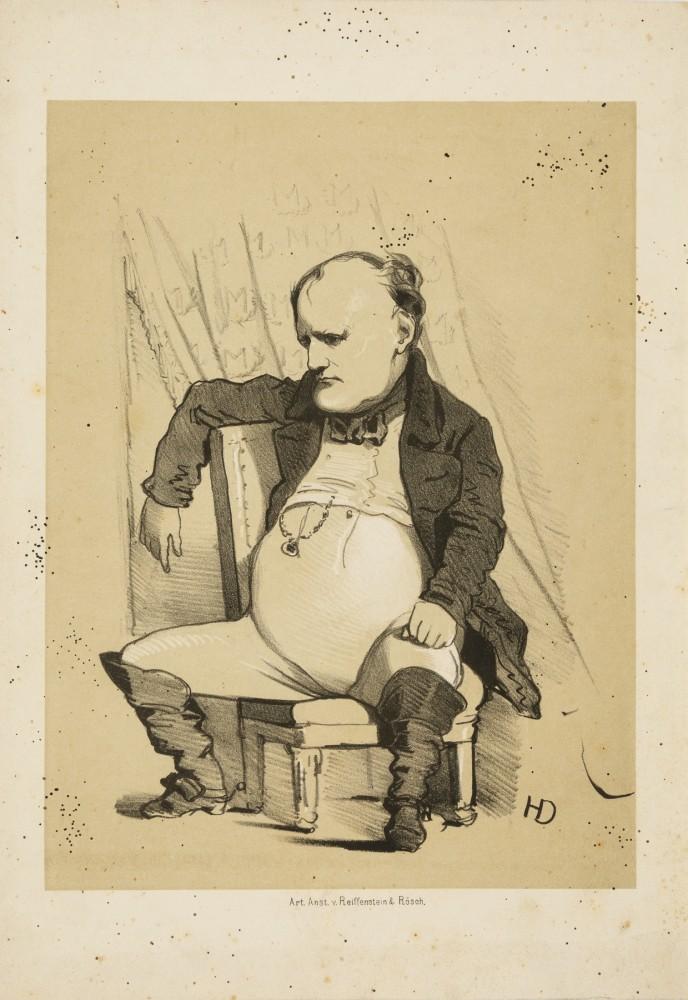 Napoleon Bonaparte. Karykatura