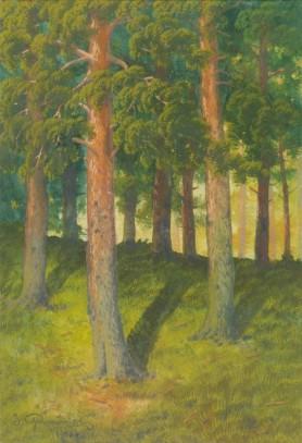 Pejzaż leśny, 1915