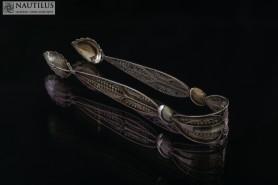 Filigranowe szczypce do cukru, XIX wiek